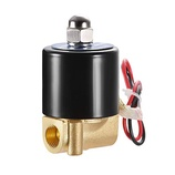 sourcing map DC 12V 3 Way 2 Position 1//4PT,Pneumatic Air Control NC Solenoid Valve,Internally Single Piloted Acting Type Green Light,3V210-08