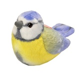 Pushchair Baby Toys with Bell Baby Plush Toy Cartoon Animal Rattle Doll Clip on Pram Toys Morbuy Baby Pushchair Toys W9*H25cm Blue bird