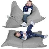 a9c8a63a0d Gilda Ravioli Regular - Giant Childrens Bean Bag Floor Cushion Beanbag (grey )