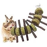VVXXMO 4 Pcs Small Animal Pet Chew Toys Rattan Balls Activity Toy for Chinchilla Guinea Pig Hamster Rabbit Gerbil Bird Parrot