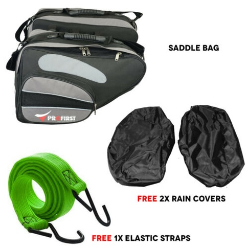 5ed9341de7 Extendable Motorbike Motorcycle Luggage Saddle Bag Pocket Pannier  Waterproof 60l