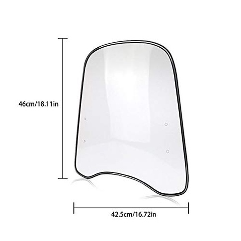 Universal Motorcycle Windshield Enhanced Highly Transparent PC Material Mptorbike Deflector Scooter Windscreen Shatterproof Windproof Coldproof 425460mm