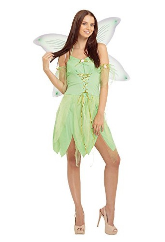 Bristol Novelty Ac704 Fairy Costume, Green, Size 10 14