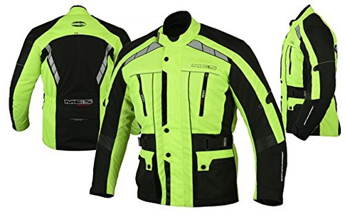 Mbs Mj-21 James Long Motorcycle Textile Jacket Black hi Viz Yellow 2xl 960fca878